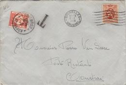 Enveloppe Taxe Bruxelles Courtrai - Belgium