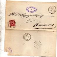 1887   LETTERA CON ANNULLO  OTTAGONALE  CELLA DATI CREMONA