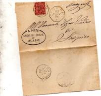 1894  LETTERA CON ANNULLO  OTTAGONALE  CELLA DATI CREMONA