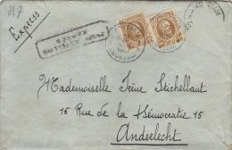Enveloppe Expres Spoedbestelling Courtrai Anderlecht - Belgique