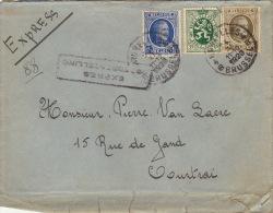 Enveloppe Expres Spoedbestelling Bruxelles Courtrai - Belgio