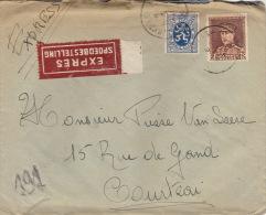 Enveloppe Expres Spoedbestelling Bruxelles Courtrai - België
