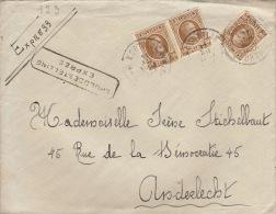 Enveloppe Expres Spoedbestelling Courtrai Anderlecht - Belgio