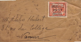 Bandeau Journal Bruxelles 1937 - Brieven En Documenten