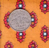 1 Piece De   - 1 Francs 1942 - H. 1 Franc