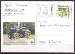 BRD , Ganzsache , Sonder - Postkarte , 2001 , Mi.Nr. PSo 74 Gelaufen - [7] Repubblica Federale