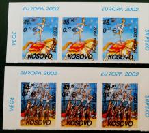 EUROPA 2002 - NEUFS ** - PH 0014 - 2 BANDES HAUTS DE FEUILLES - EMISSION KOSOVAR - Kosovo