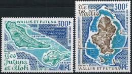 """Wallis Aerien YT 80 & 81 (PA) """" Cartes Des Iles """" 1978 Neuf** - Poste Aérienne"""