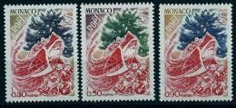 "Monaco YT 871 à 873 "" La Fête De Noël 3TP ""  1972 Neuf ** - Monaco"