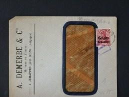 B/4675    LETTRE DE JEMAPPES  CENSURE DE MONS - WW I