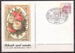 BRD , Ganzsache , Privat Postkarte , Schreib Mal Wieder , Tag Der Briefmarke 1982 , Sonderstempel - [7] Repubblica Federale