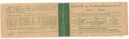 France Carnet Semeuse Camée Yvert 137-C9 **, Cérès 15 Dalay 14 Couverture Avec En 2ème Page Loi Du 29 Mars 1920. 137 C 9 - Carnets