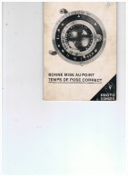 BONNE MISE AU POINT TEMPS DE POSE CORRECT  1939 - Appareils Photo