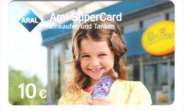 Germany - Aral Petrol Station - Carte Cadeau - Carta Regalo - Gift Card - Geschenkkarte - Milka Chocolate - Girl - Frankreich