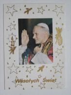 Christmas Postcard /  Pope John Paul II / Carnet - Noël