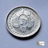 Bolivia - 1/2 Boliviano - 1900 - Bolivia