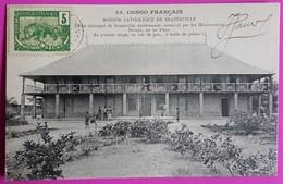 Cpa N° 55 Congo Palais Episcopal Brazzaville Construit Par Missionnaires 1er Etage Bec De Gaz Huile De Palme 1906 - Congo Francés - Otros