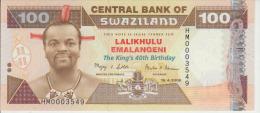 Swaziland 100 Emalangeni 2008 Pick 34 UNC - Swaziland