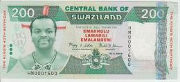Swaziland 200 Emalangeni 2008 Pick 35 UNC - Swaziland