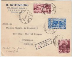 24249 New York Expo 1939 Set On FDC 8 Mai R-cover To Ixelles, Belgium + 1 Definitive - GF - 1918-1948 Ferdinand I., Charles II & Michel
