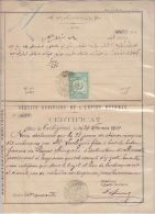 24213 SERVICE SANITAIRE DE L'EMPIRE OTTOMAN certificate from TREBIZONDE 1907 for goatskins from ERZEROUN to Marseille GF