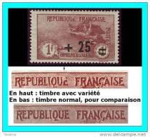 FRANCE 1922 - Yv. 168 ** TB   -  Variété  - 2ème Série Orphelins ..Réf.FRA26640 - Ungebraucht