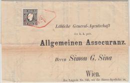 24228  WIEN 1859 Ortsbrief Frankiert 11 I B (beide R Verstummelt) - 1850-1918 Empire