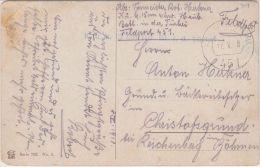 24232  FELDPOST TURKEI TURKEY 1918 FPA 451 KUK 15 CM Hb Bt I.d. Turkei Auf AK Kamel - 1850-1918 Empire