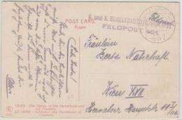 24233 FELDPOST TURKEI TURKEY 1918 FPA 451 KUK BEHELFSAUTOWERKSTÄTTE Auf AK Kairo Ägypten - 1850-1918 Empire