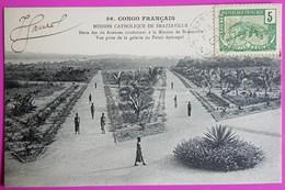 Cpa N° 56 Congo 2 Des 6 Avenues Conduisant à La Mission De Brazzaville Vue Du Palais Episcopal 1906 - Congo Francés - Otros
