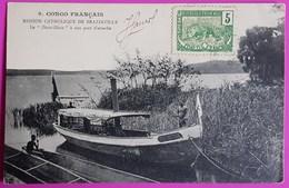 Cpa N° 9 Congo Le Diata Diata à Son Port D'Attache Carte Postale 1905 Mission Catholique De Brazzaville - Congo Francés - Otros