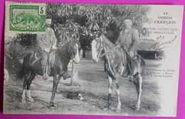 Cpa N° 36 Congo Les Chevaux De Rabah Montés Par 2 Blancs à La Sainte Famille 1905 Mission Catholique De Brazzaville - Congo Francés - Otros