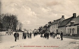8-Hallencourt (somme) Rue De La République. - Frankreich