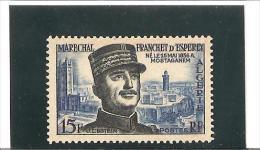 CENTENAIRE  DE LA NAISSANCE DU MARECHALD'ESPEREY  N° 336 ** - Unused Stamps
