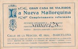 GRAN CASA DE VIAJEROS - LA NUEVA MALLORQUINA - CALLE DE LA MERCED 42 PRAL BAECELONA (CARTE PUBLICITAIRE) - Barcelona