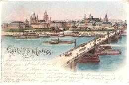 ALLEMAGNE : Gruss Aus Mainz , De Cologne Vers Antwerpen Le 14/08/1901. - Mainz
