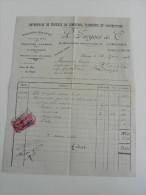 Facture :de 1948 : Ent ,Travaux De Zinguerie ,Plomberie - Petits Métiers