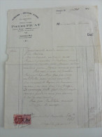 Facture :de 1946 : Ent ,Travaux De  Fumisterie ,Chauffage Central ,Plomberie - Petits Métiers