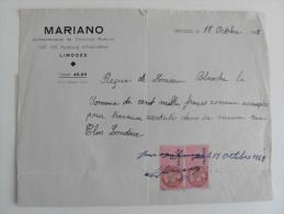 Reçu De 1943 : Entreprise MARIANO - 1900 – 1949