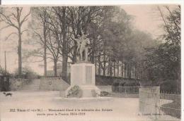 DINAN (C DU N) 352 MONUMENT ELEVE A LA MEMOIRE DES SOLDATS MORTS POUR LA FRANCE 1914.1918 - Monuments Aux Morts