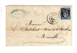 LETTRE DE DIJON POUR MARSEILLE DE 1875 - 1849-1876: Classic Period
