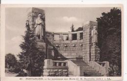 PONTARLIER 62 LE MONUMENT AUX MORTS (J M BOUTTERIN ARCHITECTE) - Monuments Aux Morts