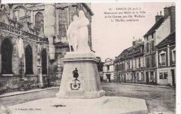 DREUX ( E ET L)  61 MONUMENT AUX MORTS DE LA VILLE ET DU CANTON PAR CH WALBAIN L PFEIFFER ARCHITECTE - Monuments Aux Morts