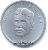 OTTAWA CANADA ROBERT L. BORDEN 1911 GETTONE MONETALE PERSONAGGI FAMOSI - Monétaires / De Nécessité