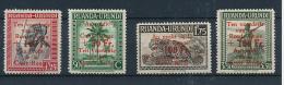 GEA RUANDA URUNDI 1944 ISSUE COB 150/53 MNH