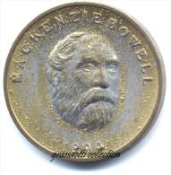 OTTAWA CANADA MACKENZIE BOWELL 1894 GETTONE DORATO MONETALE PERSONAGGI FAMOSI - Noodgeld