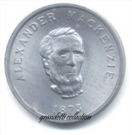 OTTAWA CANADA ALEXANDER MACKENZIE 1873 GETTONE MONETALE PERSONAGGI FAMOSI - Noodgeld