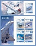 slm14603ab Solomon Is. 2014 Concorde 2 s/s