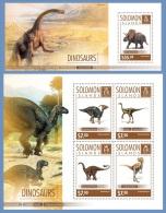 slm14604ab Solomon Is. 2014 Dinosaurs 2 s/s