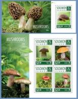 slm14608ab Solomon Is. 2014 Mushrooms 2 s/s